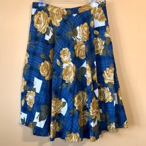 Anthropologie Odille Settee Rose Circle Skirt